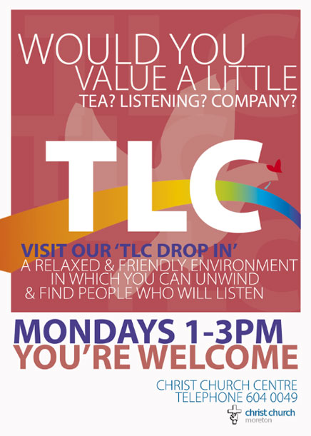 TLC, Mondays 1-3pm.
